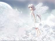 动漫女生图片唯美白色